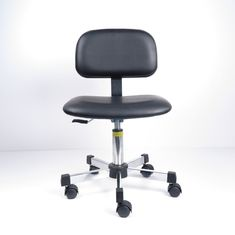 Swivel Adjustable ESD Safe Lab Chairs Anti Static PU Leather Conductive Castors