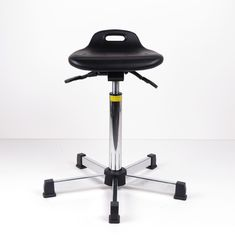Industrial Sit Stand Stool Adjustable Seat Height With Black Spraying Steel Base