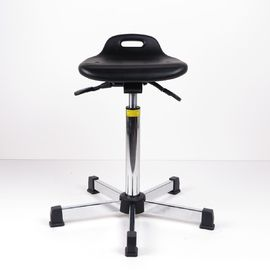 China Industrial Sit Stand Stool Adjustable Seat Height With Black Spraying Steel Base factory