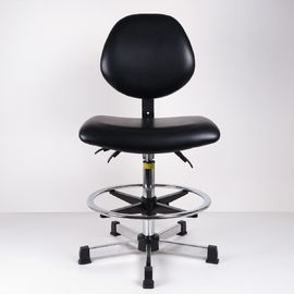China High Bench Height ESD Task Chair Lumbar Support Tilt Adjustment Back And Seat factory
