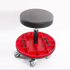China Car Repairing Worker Ergonomic Work Chair PU Leather Seat With Round Tools Box factory