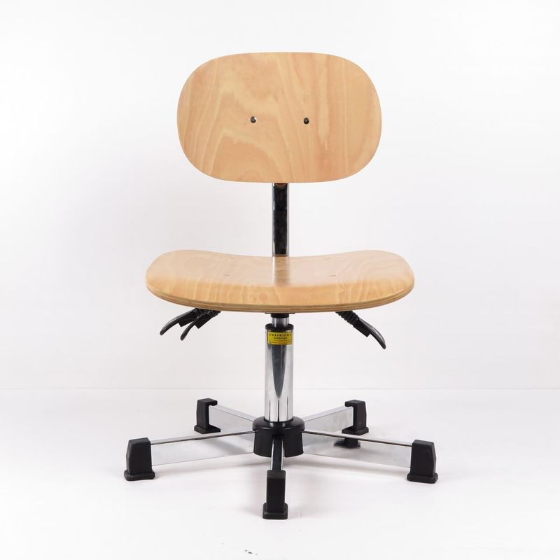 Plywood Adjustable Industrial Production Chairs 3 Ways Wooden Swivel Chair supplier