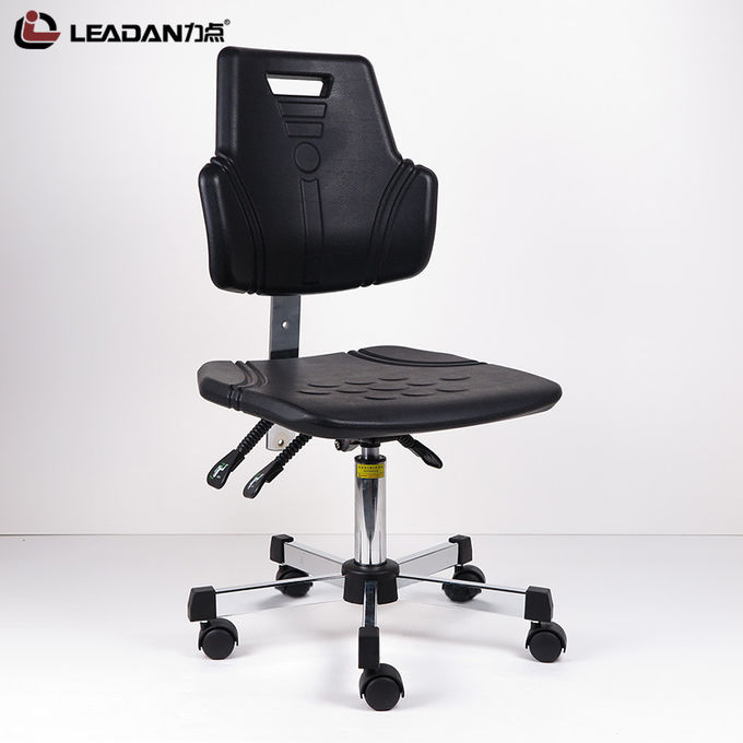 Polyurethane Foam Ergonomic ESD Chairs Non Slip Surface 5 Star Electroplating Base